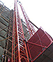 Elevador de obra em torre dupla