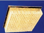 Candelabro de cristal LED com base quadrada