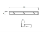 Lâmpada LED wall washer de eficiência elevada