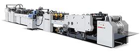Máquina automática para fazer saco de papel com sistema de alimentação de folha ZB1200C-430
